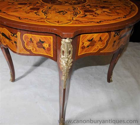 Rococo Dining Table Rococo Empire Centre Table Dining Tables Marquetry Inlay