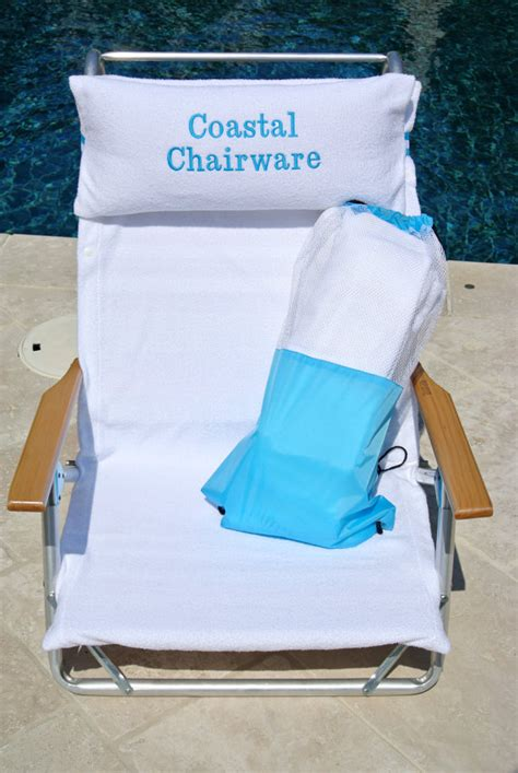 terry cloth chair cover matching pillow with optional