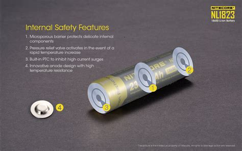 Baterai Rechargeable nitecore 18650 baterai li ion 2300mah 3 7v nl1823