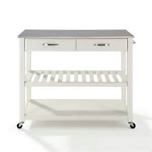 Kitchen Storage Island Cart by Stainless Steel Top Kitchen Cart Island W Optional Stool