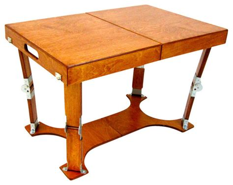 Folding Coffee Dining Table Spiderlegs Spiderlegs Crafted Finish Folding Coffee Table Walnut Reviews Houzz