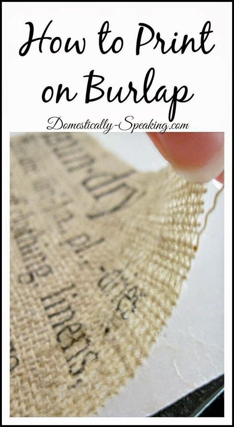 Learn To Earn From Printmaking how to print on burlap tutorial i ve always wanted to learn to make burlap pillows with