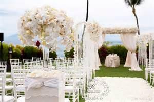 Draped Wedding Arch Four Seasons Wailea Maui Wedding Feature In The Bride And