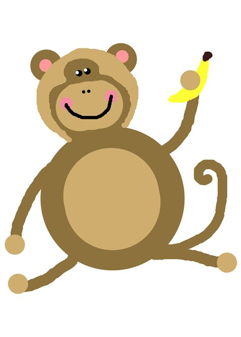 clipart of monkeys monkey clip black and white images