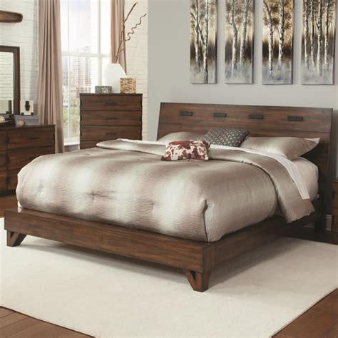 yorkshire beds coaster yorkshire 204851q rustic queen bed with contemporary design dunk bright