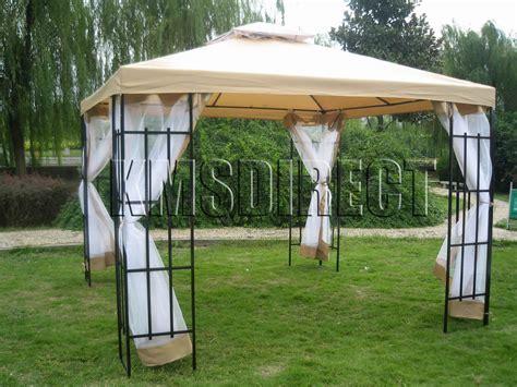 southern patio gazebo 3m x 3m patio gazebo canopy tent awning marquee beige ebay