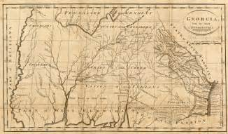 map of colony in 1732 colonial map