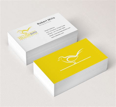bird business card template yellow bird logo business card template the design