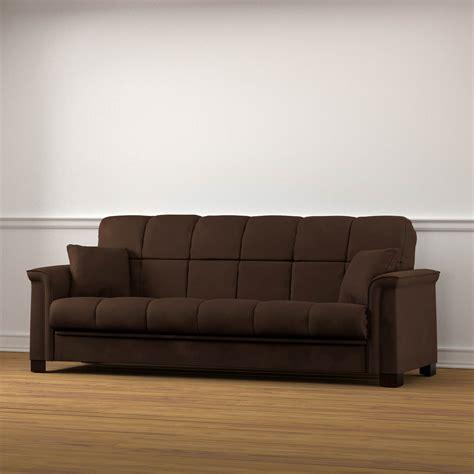 convert sofa to sleeper handy living caroline convert a couch sleeper sofa brown