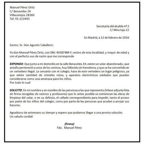 cuadro medico colegio abogados madrid modelo de carta al ayuntamiento