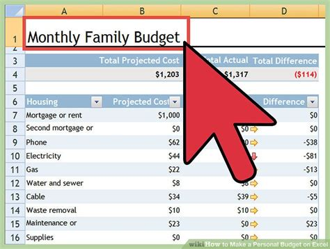 how to budget step 6 adding in your investment goals how to make a personal budget on excel with pictures