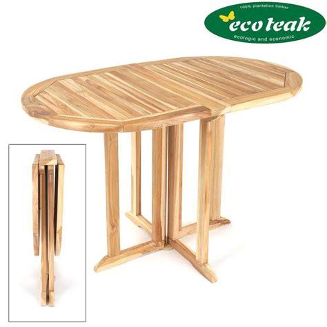 Tisch Terrasse by Beidseitig Klappbar Eco Teak Gartentisch Oval Massiv