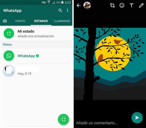 imagenes para whatsapp medidas estados de whatsapp opciones para editar v 237 173 deos y fotos