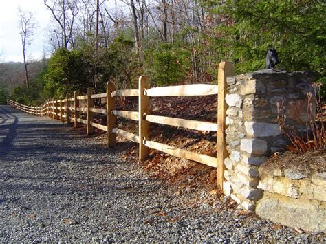 split rail fence home depot