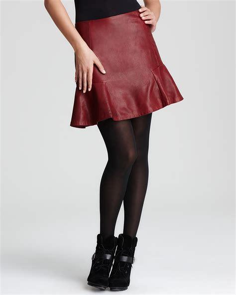 dkny leather skirt bloomingdale s exclusive bloomingdale s