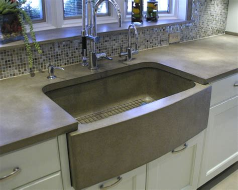 Concrete Kitchen Sink Applications For Concrete In The Kitchen