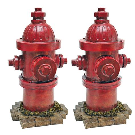 second set of for puppies s second best friend hire hydrant statue set of two ql95468 design toscano