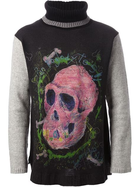 Aape Skull Shorts lyst yohji yamamoto ape skull print sweater in black for