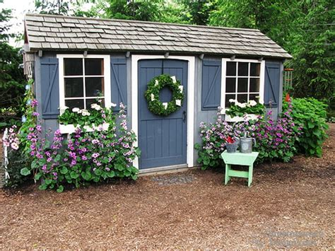 Painted Garden Sheds by Painted Shed Ideas