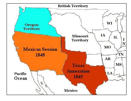 map of annexation america in the early 19th century topic annexation