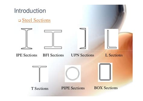 different types of steel sections general layout of steel structures