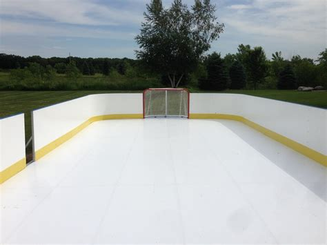 backyard rink kit d1 backyard rinks synthetic ice basement or backyard