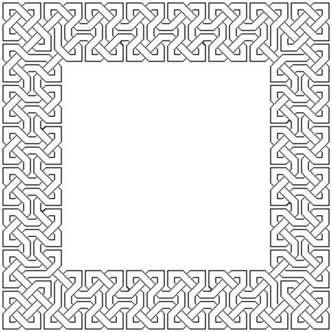 islamic pattern border outline islamic interlacing patterns to colour in