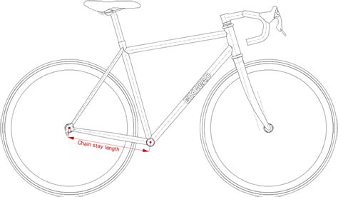 bicycle frame design dimensions chain stay length www bikecad ca