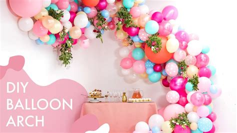 Diy floral balloon wedding arch makeful youtube