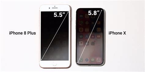 iphone x screen size versus iphone 8 plus business insider