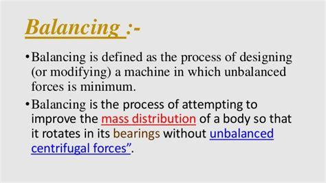 static and dynamic balancing of rotating mass