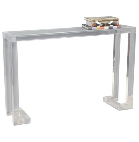 ava modern acrylic console table kathy kuo home