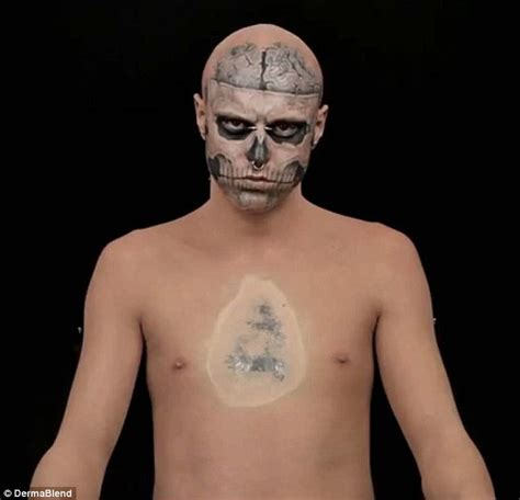 skeleton tattoo guy gaga s boy ricky genest with no tattoos model