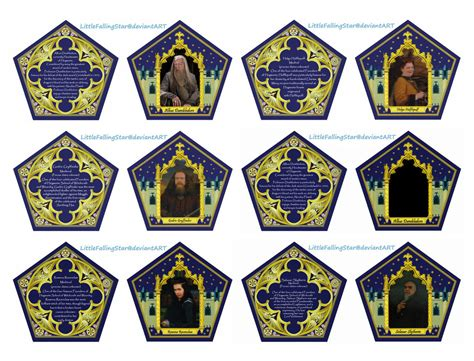 chocolate frog box template with cards 6 best images of printable chocolate frogs wizard cards