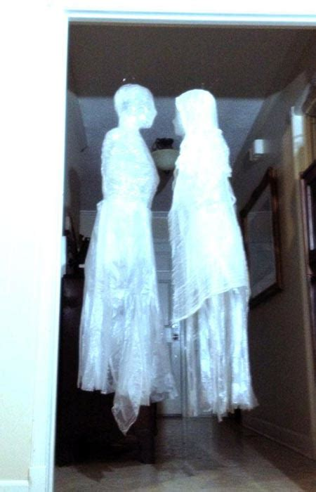 diy ghost how to make diy ghosts out of trash bags and packing