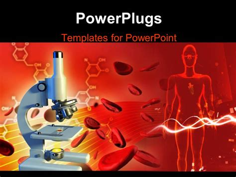 powerpoint template 3d red blood cells going through the powerpoint templates free download red blood cells gallery