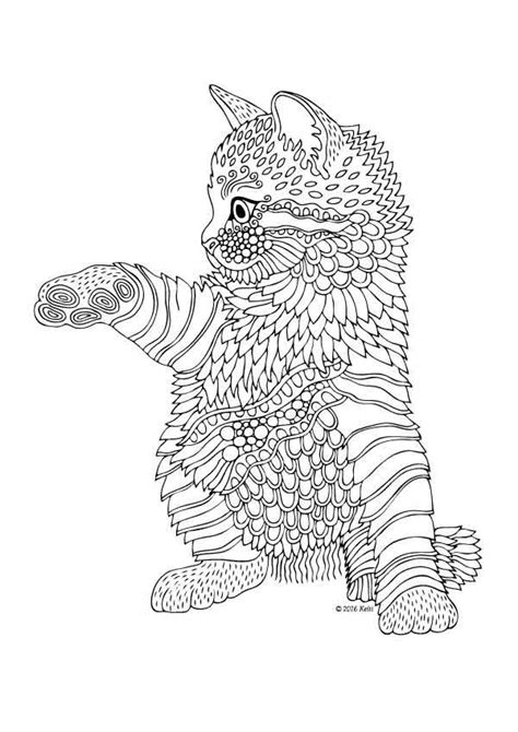 kitten coloring pages for adults 632 best adult colouring cats dogs zentangles images on
