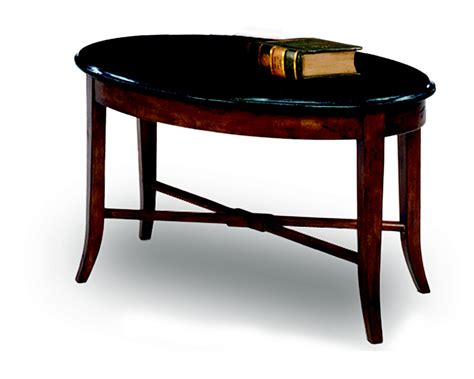 oval black coffee table leick oval black granite coffee table walnut home