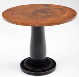 How To Make A Pedestal Table Base Copper Bar Table Hand Hammered Pub Tables Unique Pedestal