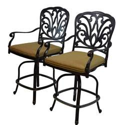 oakland living hton aluminum counter height bar stools