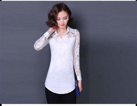 Atasan Putih baju atasan putih lengan panjang 2016 myrosefashion