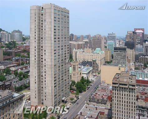 port royal montreal building view dominating sherbrooke looking