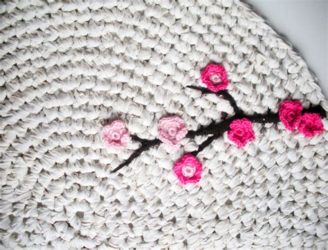 crocheted rug how to make an upcycled crochet rug upcycle magazine