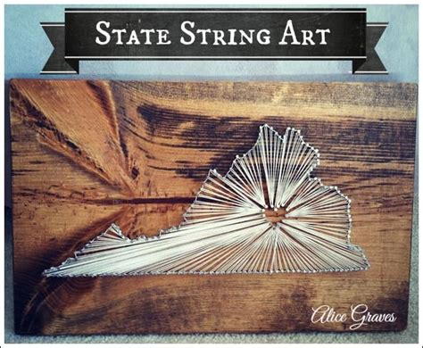 State String How To - craft ideas for adults state string quot diy home