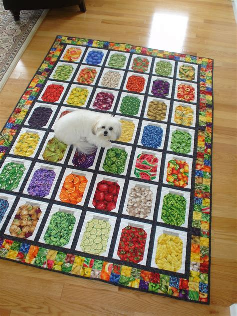 Canning Jar Quilt by June I With A Food Jar Twist