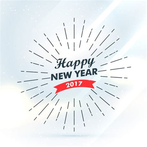 new years with vintage happy new year 2017 background with lines vector