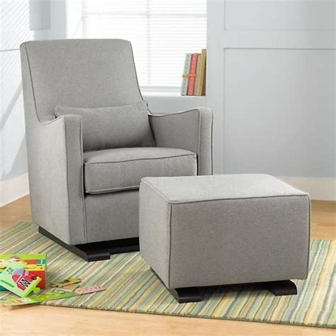 glider and ottoman for nursery the land of nod nursery gliders heather grey