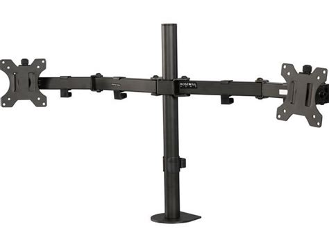 rosewill dual monitor desk mount rosewill rms 17001 13 quot to 32 quot dual arm desk mount max