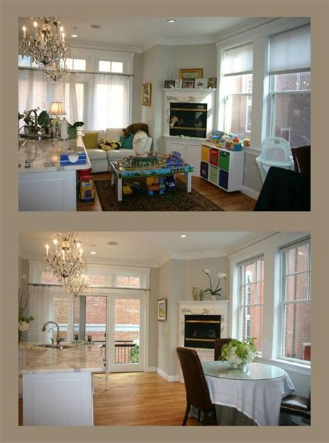 before and after staging home staging before and after home decor pinterest
