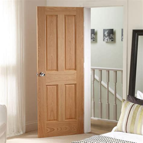 No Panel Door by Door Set Kit Oak 4 Panelled Door No Raised